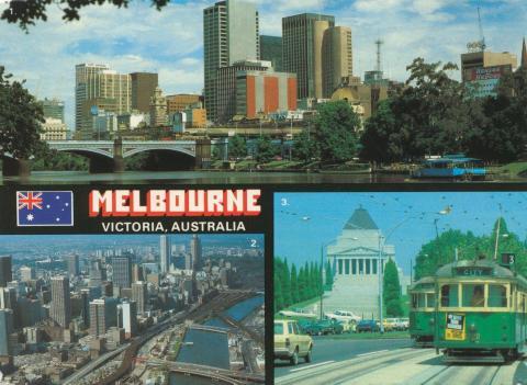 View of City Skyline, Melbourne