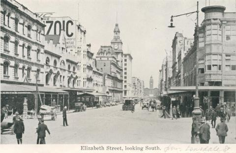 Elizabeth Street, looking South, Melbourne
