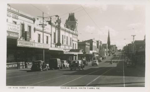 Toorak Road, South Yarra, 1950