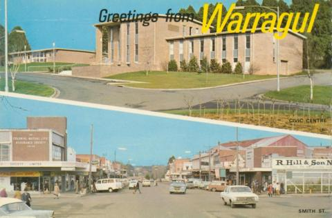 Civic Centre and Smith Street, Warragul