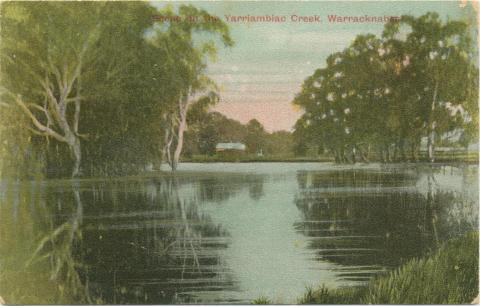 Scene at Yarriambiac Creek, Warracknabeal, 1908