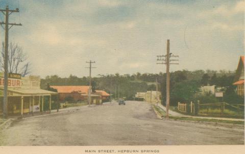 Main Street, Hepburn Springs, 1948