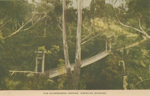 The Suspension Bridge, Hepburn Springs, 1948