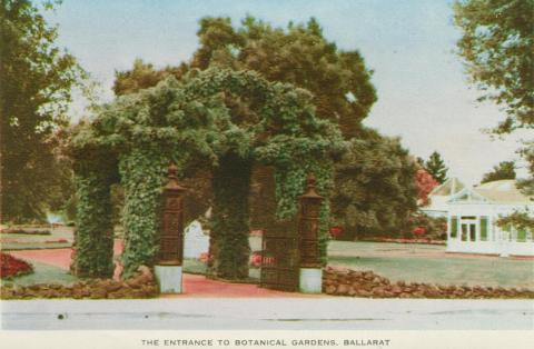 The Entrance to the Botanical Gardens, Ballarat, 1958