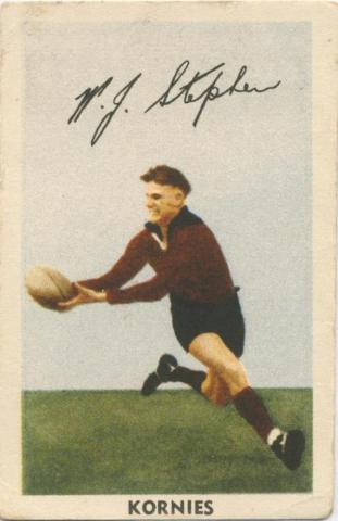 W. J. Stephen, Fitzroy Football Club, Kornies Card