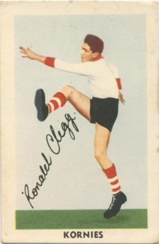 Ronald Clegg, South Melbourne Football Club, Kornies Card