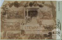 Souvenir of Eaglehawk, c1895. E.Stewart, family butcher, High Street, Eaglehawk
