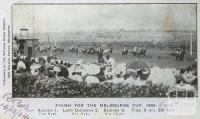 Finish for the Melbourne Cup 1904, Flemington Racecourse, 1904