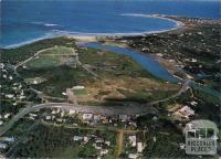 Overlooking township, river and surf beach, Anglesea