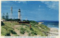 Queenscliff, the ocean view lookout and lighthouse Back Beach, 1964