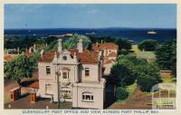 Queenscliff Post Office and view across Port Phillip Bay, 1964