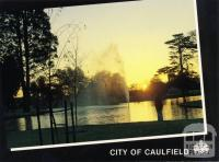 Caulfield Park at sunset