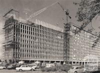 Construction of Humanities building (Robert Menzies Building), Clayton, 1964