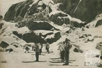 Skiers, Mount Buffalo, 1954