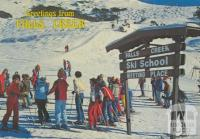 Ski School with Village T-Bar in the background, Falls Creek