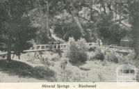 Blackwood Mineral Springs, 1950