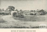 Section of Kerang's Caravan Park, 1950