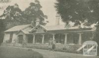 Osterley Park Guest House, Mount Macedon, 1947-48
