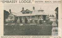 Embassy Lodge, Geelong, 1947-48