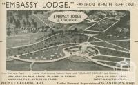 Embassy Lodge Grounds, Geelong, 1947-48