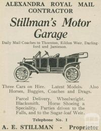 Stillman's Motor Garage, Alexandra, 1918-20