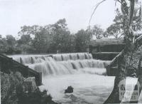 Kinpaniel weir, Loddon River, Korong Shire, 1903
