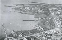 Aeroplane View of Piers and Foreshore, Williamstown, 1934