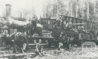 First train load of Korumburra coal to Melbourne, 1892