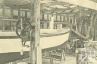 Allnutt Boat Builders, William Street, Mordialloc, 1938