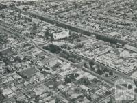 Aerial view of Box Hill, 1956