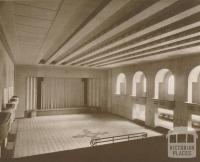 Town Hall, Main Auditorium, Ivanhoe, 1937