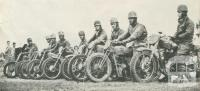 Members of the Motor Cycle Club, Echuca, 1950