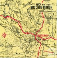 Map of Bacchus Marsh, c1968