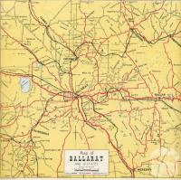Map of Ballarat and District, 1957