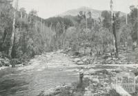 Junction of Rocky and Pretty Valley Rivers at Bogong Village, c1960
