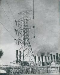 Switchyard, Yallourn power station, 1954
