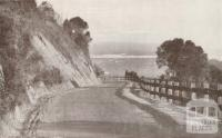 The Princes Highway, with the entrance to the Gippsland Lakes beyond, 1934