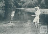 Fishing, Myrtleford, 1951