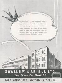 Swallow & Ariell, Port Melbourne, 1939