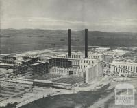 Morwell Briquette Works under construction, 1959