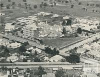 An aerial view of the Wimmera Base Hospital, 1960