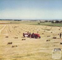 Hay-bailing, Mount Moriac, 1958