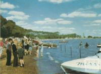 Speedboat racing, Lake Bolac, 1958