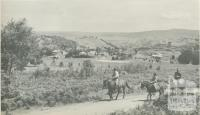 Homestead and farmland in sheep country, Yea, 1960
