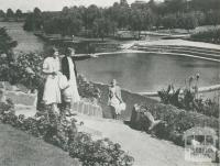Suburban Lake and Gardens, Coburg, 1955