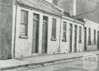 Slum Houses built on allotments with frontage of ten feet, Fitzroy, 1942