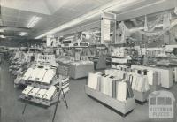 Re-modelled interior of Dryen's, 365 Sydney Road, Brunswick, 1960