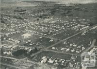 Aerial view of the housing area, Traralgon, 1951