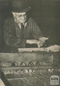 Bendigo's oldest gold mine battery manager, 1950