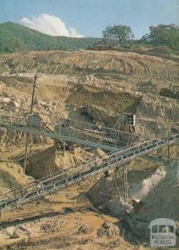 Open-cut tin mining operations, Walwa, 1970